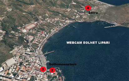 Position Eolnet's webcams in Lipari